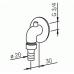Штуцеp для отвода в канализацию, хром, ORAS 173