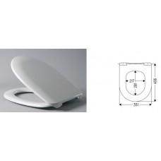 Сиденье унитаза Basic Nordica, белое HARO